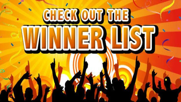 Check Out the August Winners List.