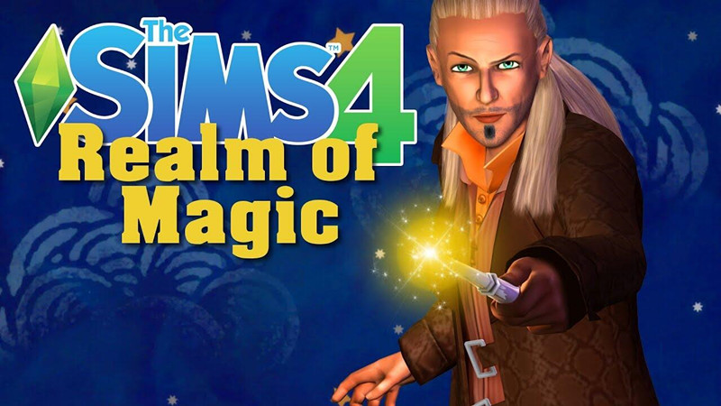 "Sims 4 Realm of Magic DLC Gameplay, Let's become ""Harry Potter""."