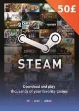 Official Steam Gift Card 50 GBP