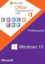 SCDKey.com, Windows10 PRO OEM + Office2016 Professional Plus CD Keys Pack