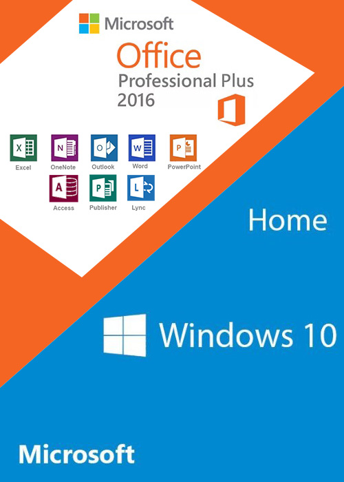 Windows10 Home OEM + Office2016 Professional Plus CD Keys Pack