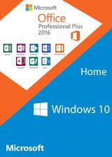 Official Windows10 Home OEM + Office2016 Professional Plus CD Keys Pack