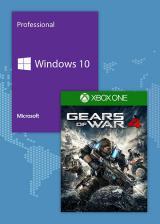 Official Gears Of War 4 + Microsoft Windows 10 Pro OEM CD Key Pack