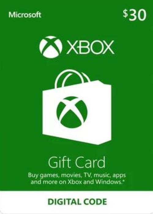 Xbox 360 Xbox One Live Card 30 USD