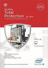 Official McAfee Total Protection 2017 1 PC 1 YEAR Global