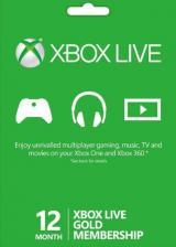 SCDKey.com, Xbox Live 12 Months Gold Membership Card LATAM