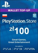 SCDKey.com, Play Station Network 100 PLN PL