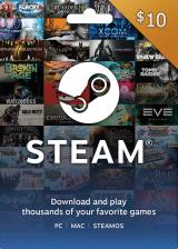 Official Steam Gift Card 10 USD