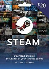 Official Steam Gift Card 20 USD