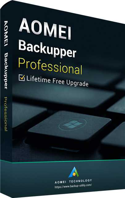 AOMEI Backupper Professional + Free Lifetime Upgrades 5.0 Key Global