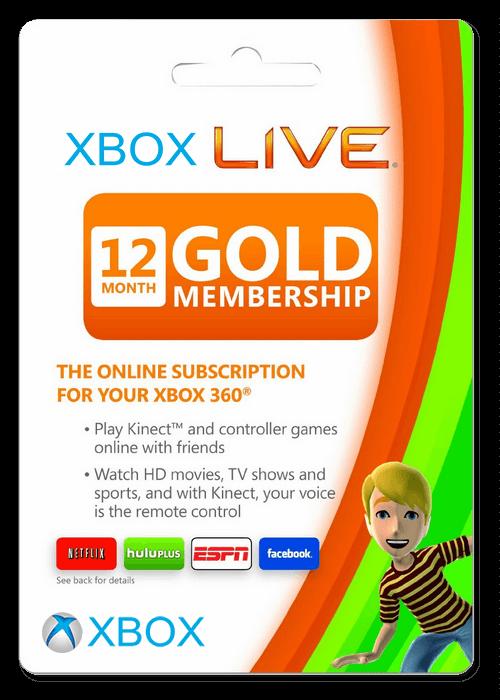 Xbox Live 12 Months Gold Membership Card EU