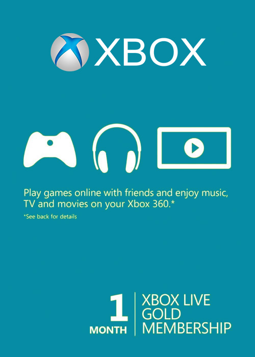 Xbox 1 Month Gold Membership Global