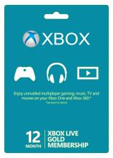 Official Xbox Live 12 Months Gold Membership Card
