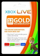 Official Xbox Live 12 Months Gold Membership Card EU