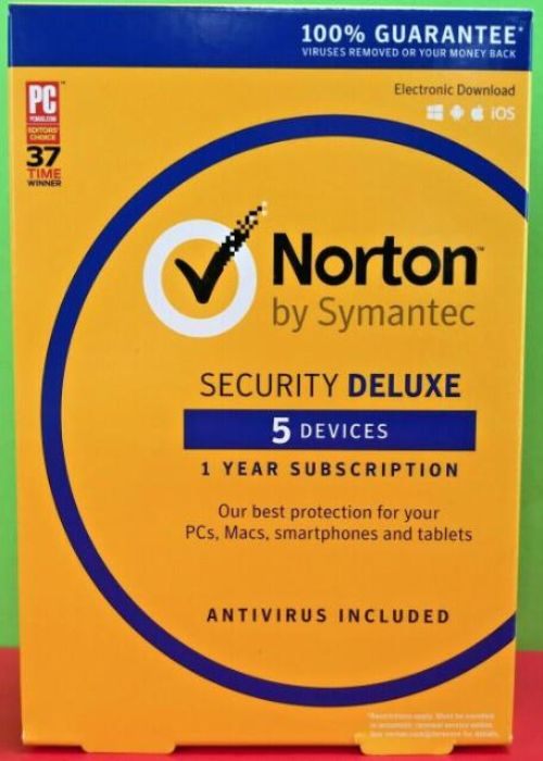 Norton Security Deluxe 5 PC 1 Year PKC BIL Key North America