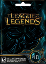 Official League of Legends 10 USD Prepaid RP Card US