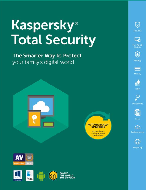 Kaspersky Total Security 1 PC 1 Year Key Global