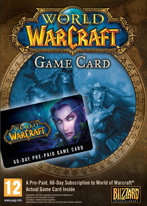 World of Warcraft EU 60 Days Time Card
