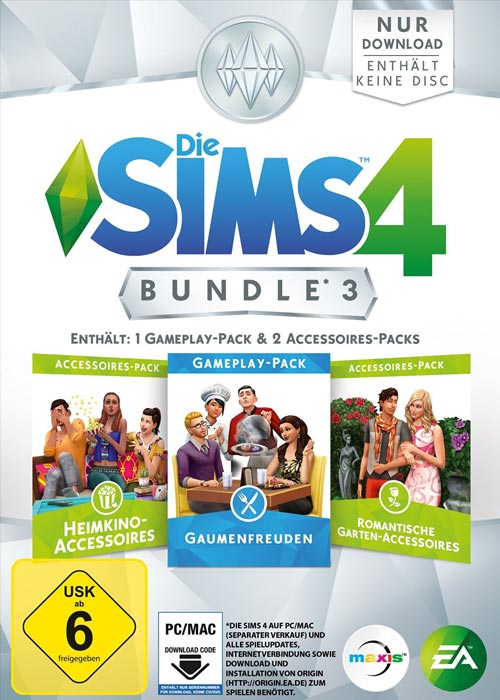 The Sims 4 Bundle Pack 3 DLC ORIGIN CD KEY GLOBAL